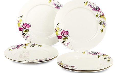Verso Sada dezertních talířů Clasico Floral 20,5 cm, 6 ks