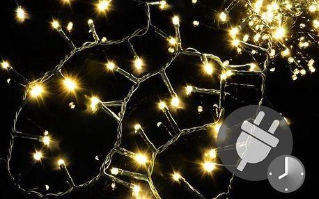 Nexos 47227 Vánoční LED osvětlení 500 diod - bohatý řetěz - teple bílá 10 m