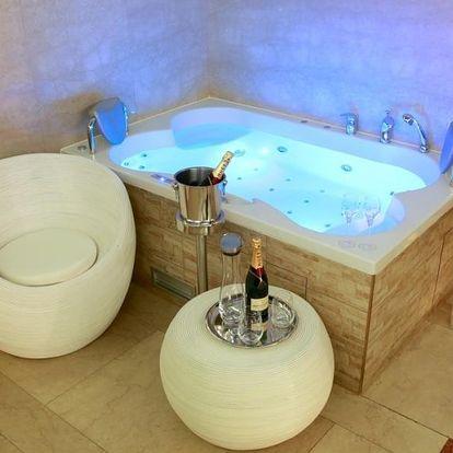 Privátní vinné wellness ve vaně s hydromasážními tryskami
