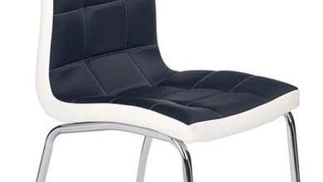 Jídelní židle K186 černo-bílá