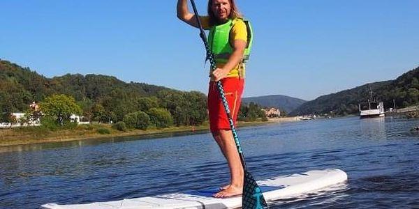 Na paddleboardu a koloběžce Českým Švýcarskem