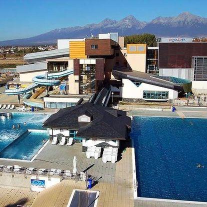 Poprad, hotel Aquacity Seasons**** přímo v areálu aquaparku a s bohatým wellness