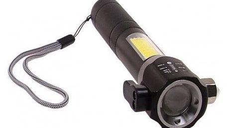 Multifunkční svítilna T6-28 stříbrná