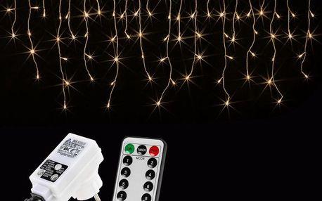 VOLTRONIC® 59793 Vánoční světelný déšť 400 LED teple bílá - 10 m + ovladač