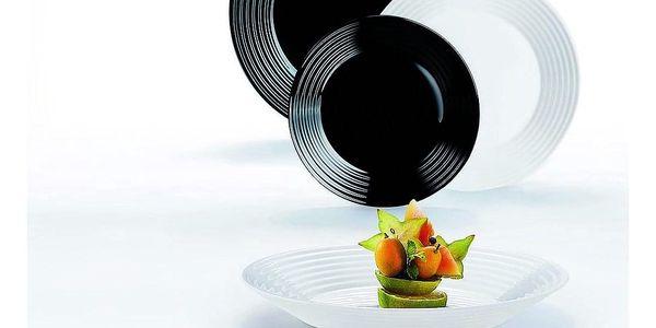 HARENA černá&bílá souprava jídelní 18 d.