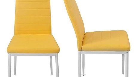 Miadomodo 74773 Sada jídelních židlí s PU kůže, žlutá, 2 ks