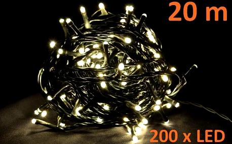 Nexos 4267 Vánoční LED osvětlení 20 m - teple bílé, 200 diod