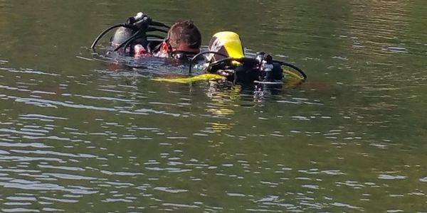 Ponor na zkoušku ve volné vodě3