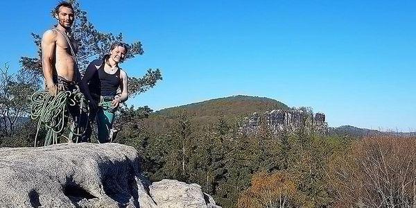 Individuální kurz lezení na pískovcové skále pro dva   Hrádek nad Nisou   Duben – říjen (dle počasí).   5 - 6 hodin.3