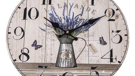 Nástěnné hodiny Lavande, 34 cm