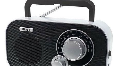 Přenosné rádio Bravo B-5184 ČERNO STŘÍBRNÁ