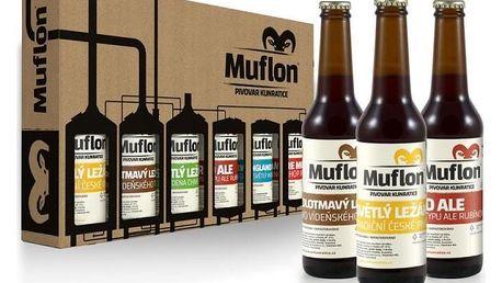 Degustační set nefiltrovaného piva Muflon – 6× 0,33 l