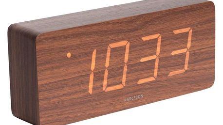 Karlsson 5654DW Designové LED stolní hodiny s budíkem, 21 x 9 cm