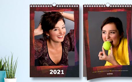 Nástěnný měsíční fotokalendář formátu A3