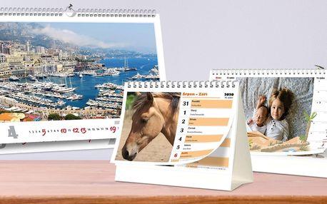 Stolní a nástěnné kalendáře z vašich fotek