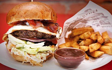 Special burger podle výběru, hranolky a nápoj