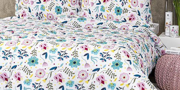 4Home Krepové povlečení Flowers, 220 x 200 cm, 2 ks 70 x 90 cm