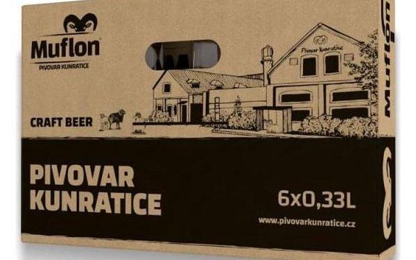 Degustační set piva Muflon – 6× 0,33 l2