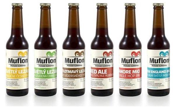 Degustační set piva Muflon – 6× 0,33 l3