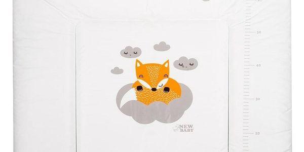 Přebalovací podložka měkká New Baby Liška bílá 85x70cm