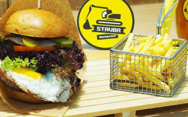 1× burger + hranolky3