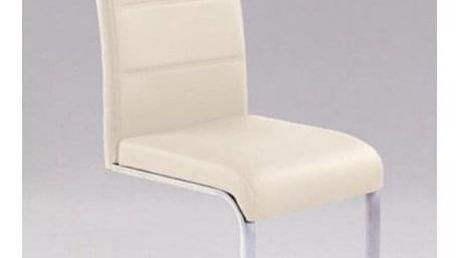 Kovová židle K85 tmavě krémová