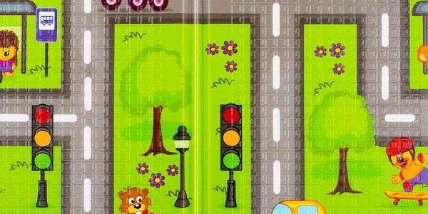 PlayTo hrací podložka Cesta zelená2