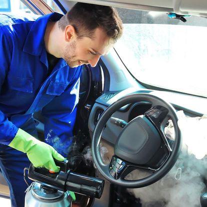 Mobilní ruční mytí auta párou vč. interiéru u vás doma