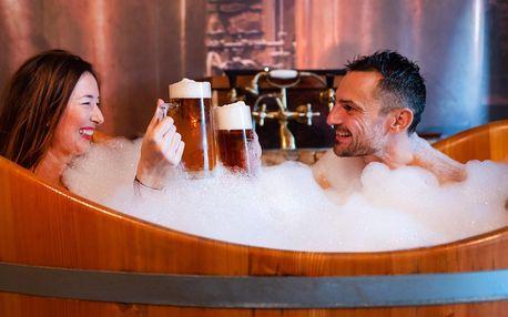 60 min. pivní koupele i s konzumací piva pro 2 osoby