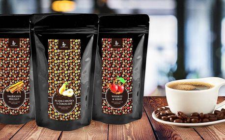 Balíčky 3 a 6 oblíbených ochucených zrnkových káv