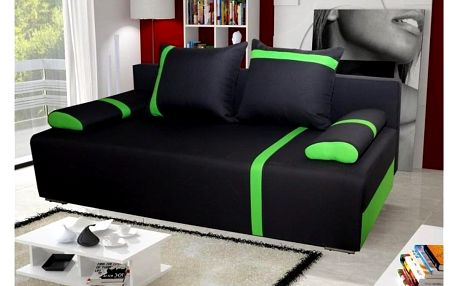Pohovka STRAKOŠ Capri 02 tmavě šedá / zelená