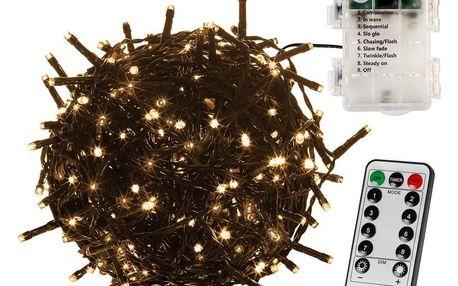 VOLTRONIC® 67406 Vánoční řetěz 10 m, 100 LED, teple bílý + ovladač