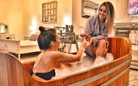 Levandulová lázeň, sauna i občerstvení pro 2 osoby