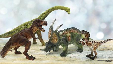 Figurky dinosaurů: T-rex, stegosaurus i raptoři