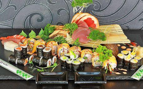 Sushi u Stodolní: 24–37 ks, ryby i vege a smažené