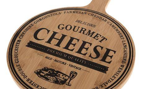 Servírovací bambusové prkénko Cheese, 35 x 24,5 x 1,5 cm