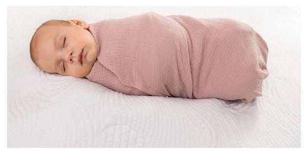 Babymatex Zavinovačka růžová, 80 x 120 cm
