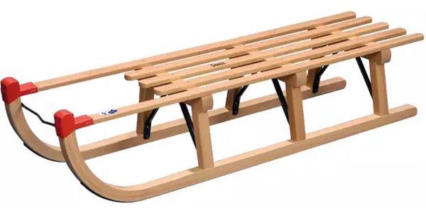Sáně dřevěné VT-SPORT Davos délka 120 cm5