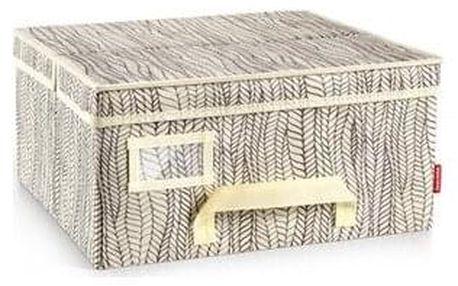 Krabice na oděvy FANCY HOME 40 x 35 x 20 cm, smetanová
