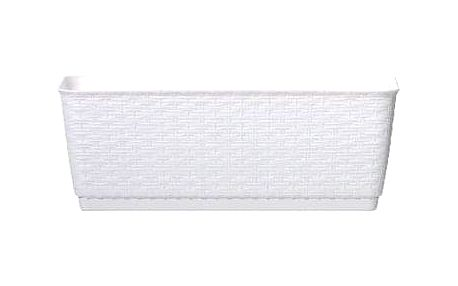 Truhlík Prosperplast Ratolla P 49,2 x 17,2 x 17,4 cm bílý