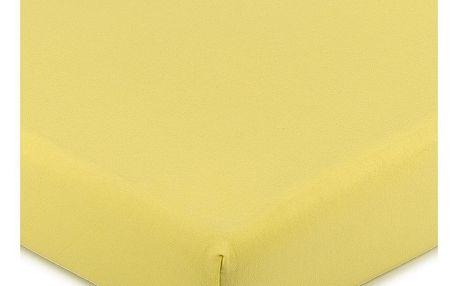 4Home Jersey prostěradlo s elastanem žlutá