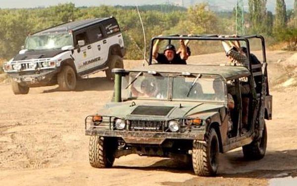 Řízení vojenského Humvee + adrenalinová jízda na korbě Humvee