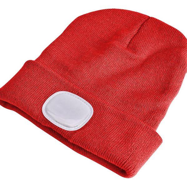 Sixtol Čepice s čelovkou 45 lm, USB, uni, červená4