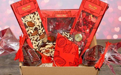 Valentýnské dárkové balení plné sladkých čokolád