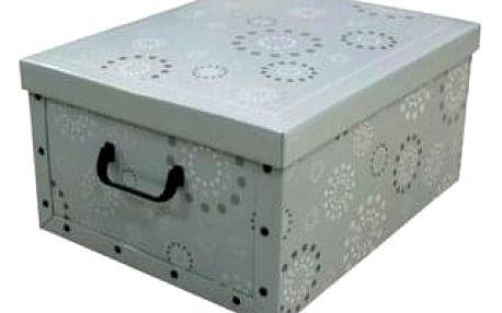 Compactor Skládací úložná krabice Compactor Ring - karton box 50 x 40 x 25 cm, zelená