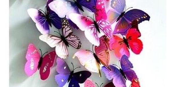 Sada 12 motýlků   Žlutá2