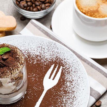 Italské tiramisu a káva podle výběru pro 1 či 2 os.