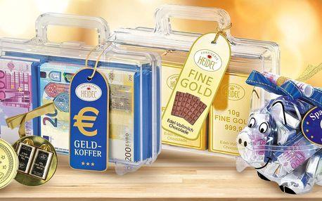 Zlaté prasátko, kreditka nebo medaile z čokolády