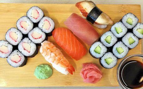 Pestré sushi sety a úžasný výhled na Olomouc