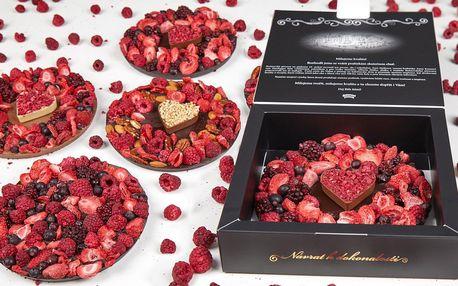 Zdobený čokoládový frgál z Málkovy čokoládovny